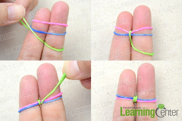 loom bands instructions with fingers