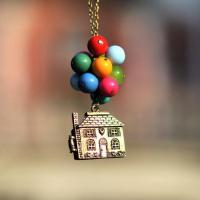 DIY  Flying House Pendant Necklace